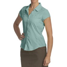 Royal Robbins Windsong Shirt - UPF 50+, Short Sleeve (For Women) in Nile Blue - Closeouts