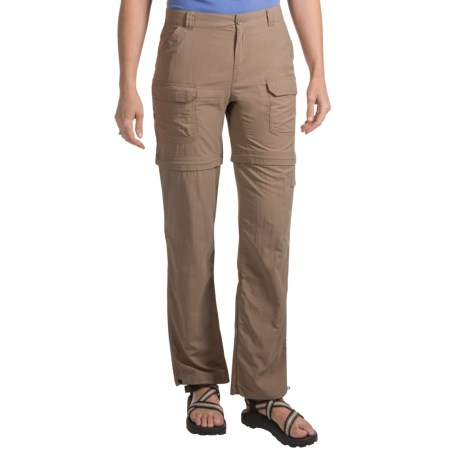 Royal Robbins Zip 'N Go Convertible Pants (For Women) in Khaki