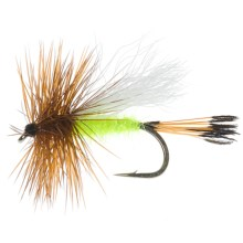 Royal Trude Dry Fly - Dozen in Lime - Closeouts