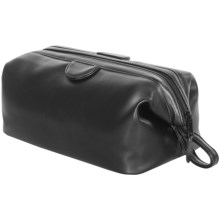 Royce Leather Classic Toiletry Travel Wash Bag in Black - Closeouts