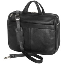 Royce Leather Executive Laptop Briefcase in Black - Closeouts