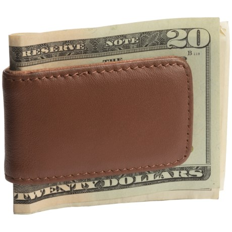 Royce Leather Magnetic Money Clip in Tan