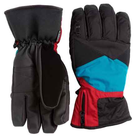 RPZN Slimline Thinsulate® Gloves - Waterproof, Insulated (For Men) in Pacific/Spicy Red/Black - Closeouts