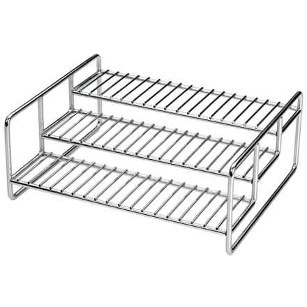 RSVP International 3-Tier Spice Rack in Stainless Steel - Closeouts
