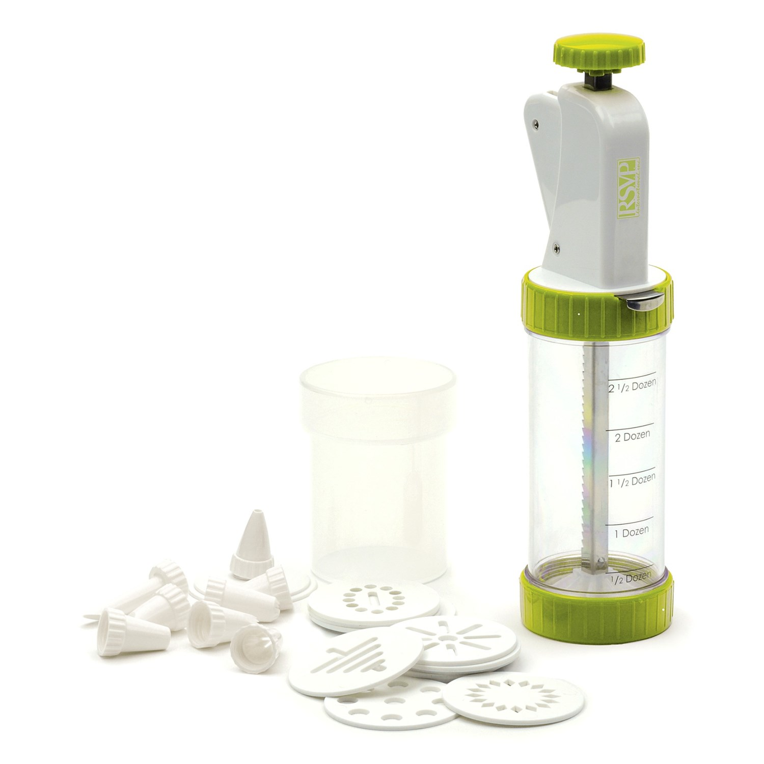 Rsvp international cookie press plus with discs and for Decor products international