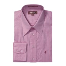 RTK Shirts Royal Oxford Dress Shirt - Cotton, Point Collar, Long Sleeve (For Men) in Heathered Rose - Closeouts