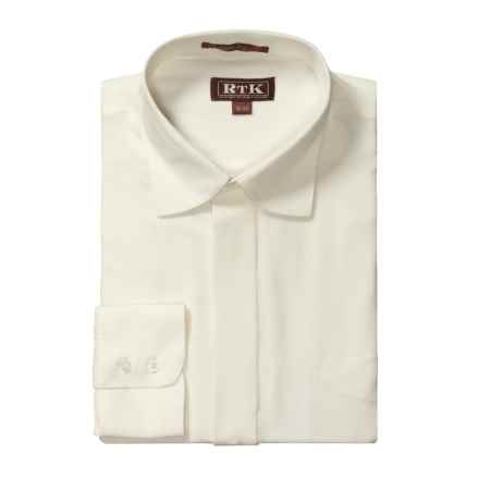 RTK Shirts Silk Dress Shirt - Spread Collar, Long Sleeve (For Men) in Whisper White - Closeouts
