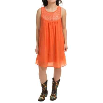 RU Apparel Brianna Dress - Sleeveless (For Women) in Orange - Closeouts