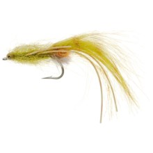 Rubber Leg Magnum Mantis Shrimp Saltwater Fly - Dozen in Olive - Closeouts