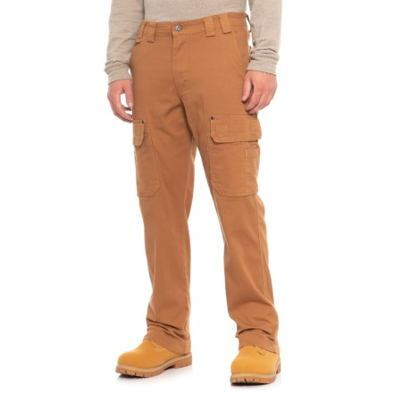 3708bcbf Ruff Hewn Flex Canvas Utility Cargo Pants (For Men) in Clay Brown -  Closeouts