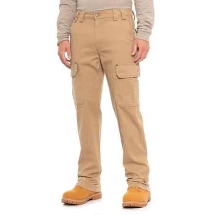 Ruff Hewn Flex Canvas Utility Cargo Pants (For Men) in Khaki - Closeouts