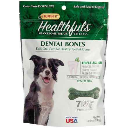 Ruffin' It Healthfuls Dental Dog Bones - Large, 7-Count in See Photo - Closeouts