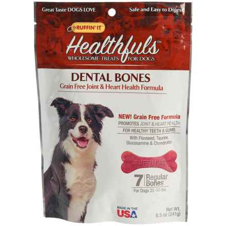 Ruffin' It Healthfuls Grain-Free Heart and Joint Health Dental Dog Bones - Regular, 7-Count in See Photo - Closeouts