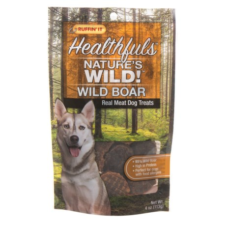 Ruffin' It Nature's Wild Boar Dog Treats - 4 oz. in See Photo