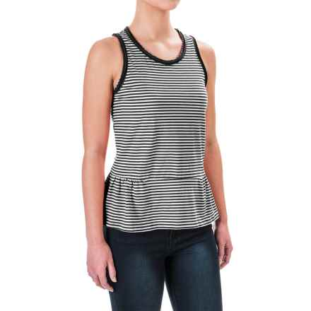 Ruffle-Hem Tank Top (For Women) in Black/White Stripe - 2nds