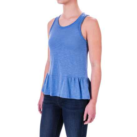 Ruffle-Hem Tank Top (For Women) in Blue - 2nds
