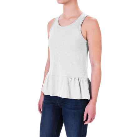 Ruffle-Hem Tank Top (For Women) in White - 2nds