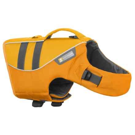Ruffwear Dog Float Coat with Handle - Reflective Trim in Dandelion Yellow - Closeouts