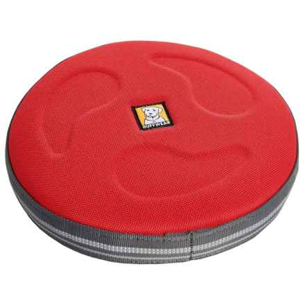 Ruffwear Large Hover Craft Interactive Flying Disc in Red Currant - 2nds
