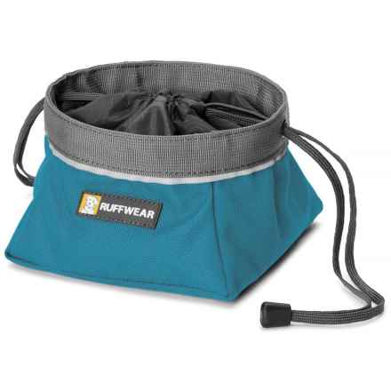 Ruffwear Quencher Cinch-Top Travel Dog Bowl - 1.1 qt. in Pacific Blue - Closeouts