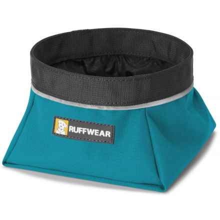 Ruffwear Quencher Soft-Sided Travel Dog Bowl - 25.4 oz. in Pacific Blue - Closeouts