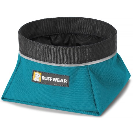 Ruffwear Quencher Soft-Sided Travel Dog Bowl - 25.4 oz. in Pacific Blue