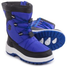 Rugged Bear Bungee Cord Snow Boots - Insulated (For Little and Big Kids) in Blue/Black - Closeouts