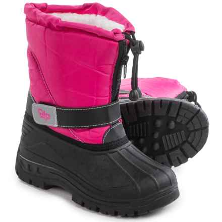 Rugged Bear Butterfly Snow Boots - Insulated (For Little and Big Girls) in Fuschia/Black - Closeouts