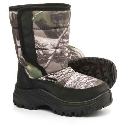 Rugged Bear Camo Pac Boots (For Little and Big Boys) in Black/Brown - Closeouts