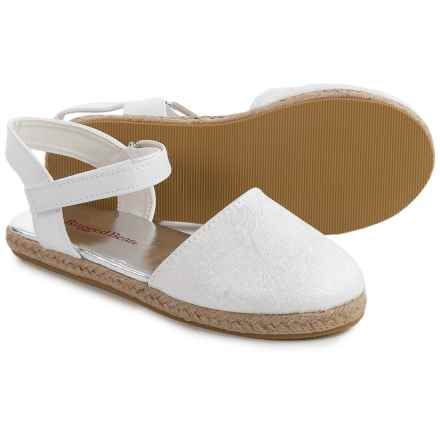 Rugged Bear Espadrille Sandals - Vegan Leather (For Girls) in White - Closeouts