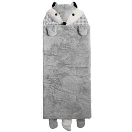 Rugged Bear Grey Fox Sleeping Bag (For Kids) in Grey - Closeouts