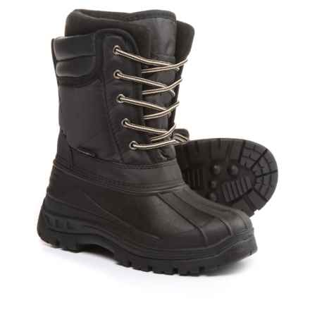 Rugged Bear Lace-Up Pac Boots (For Little and Big Boys) in Black - Closeouts
