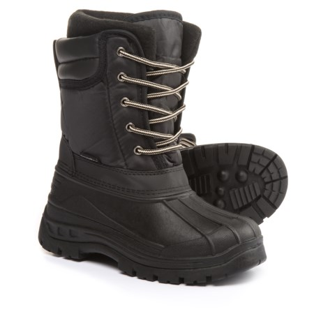 Rugged Bear Lace-Up Pac Boots (For Little and Big Boys) in Black