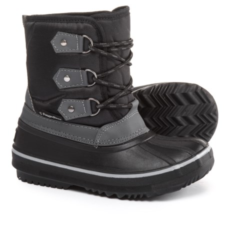 Rugged Bear Lace-Up Pac Boots - Waterproof, Insulated (For Boys) in Black