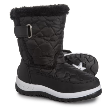 82a786b014fe Rugged Bear Lined Snow Boots (For Toddler Girls) in Black