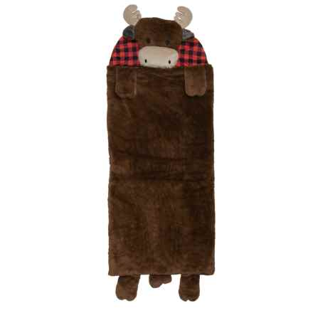 Rugged Bear Moose Sleeping Bag (For Kids) in Brown - Closeouts