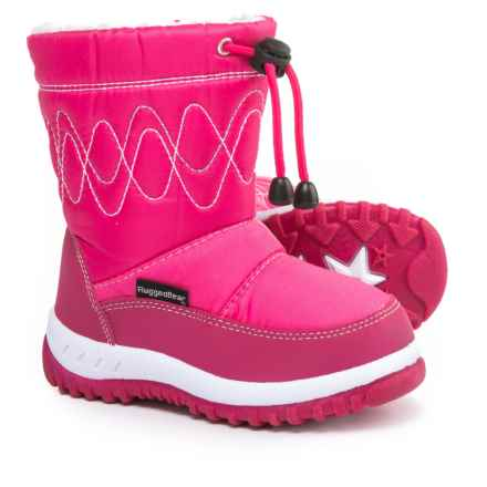 Rugged Bear Pink Snow Boots (For Little and Big Girls) in Fuchsia - Closeouts