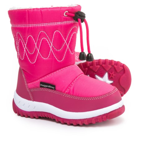 Rugged Bear Pink Snow Boots (For Little and Big Girls) in Fuchsia
