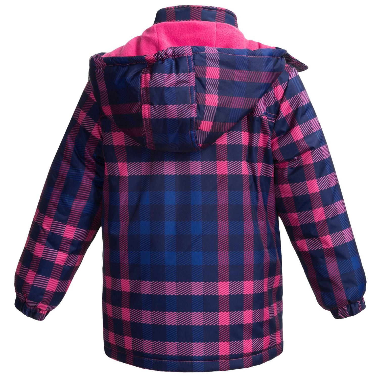 rugged bear plaid snow jacket for little girls save 81. Black Bedroom Furniture Sets. Home Design Ideas