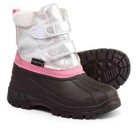 Rugged Bear Silver Pac Boots (For Little and Big Girls) in Silver/Black - Closeouts