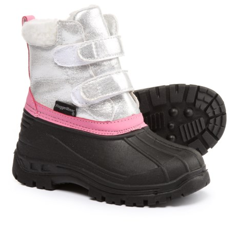 Rugged Bear Silver Pac Boots (For Little and Big Girls) in Silver/Black