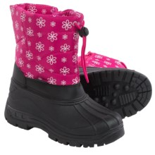 Rugged Bear Snow Boots - Insulated (For Little and Big Girls) in Black/Fuschia - Closeouts