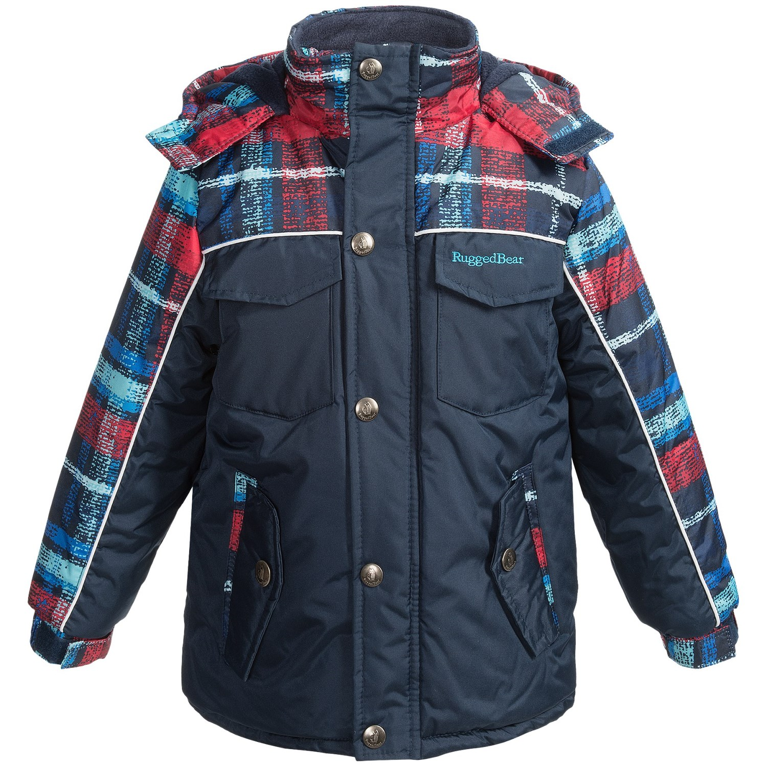 rugged bear solid and plaid snow jacket for little boys. Black Bedroom Furniture Sets. Home Design Ideas