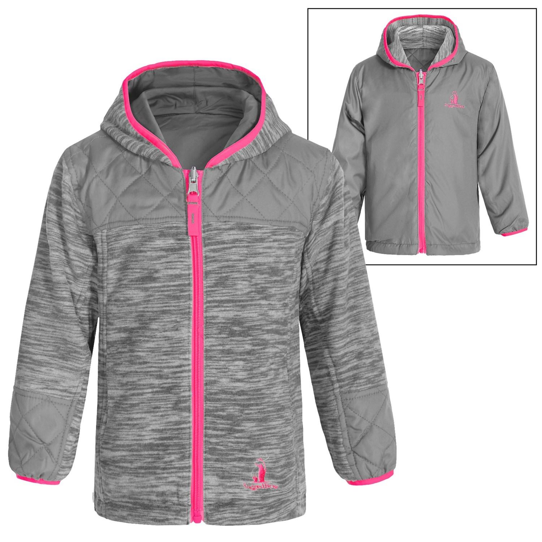 rugged bear space dye fleece jacket for little girls. Black Bedroom Furniture Sets. Home Design Ideas