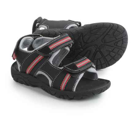 Rugged Bear Sport Sandals - Vegan Leather (For Toddler Boys) in Black/Red - 2nds