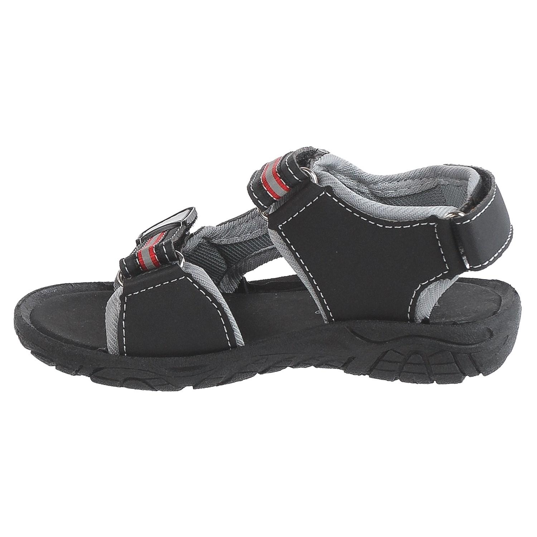 Black sandals for toddler boy - Rugged Bear Sport Sandals Vegan Leather For Toddler Boys