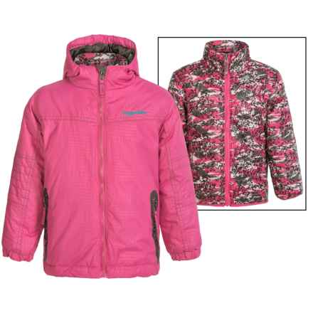 Rugged Bear Systems Winter Jacket - Insulated, 3-in-1 (For Little Girls) in Sugar Plum Camo - Closeouts