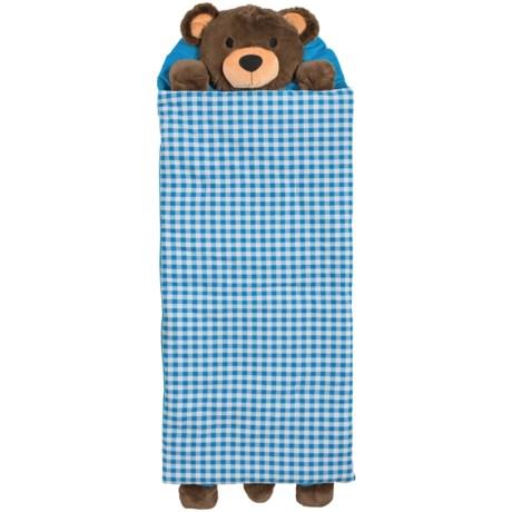 Rugged Bear Teddy Bear Sleeping Bag (For Kids) in Brown/Blue