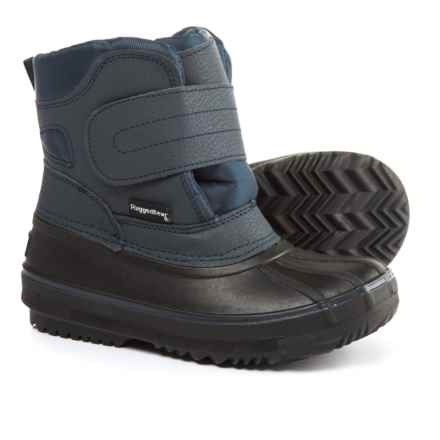 Rugged Bear Touch-Fasten Pac Boots - Waterproof, Insulated (For Boys) in Black/Navy - Closeouts