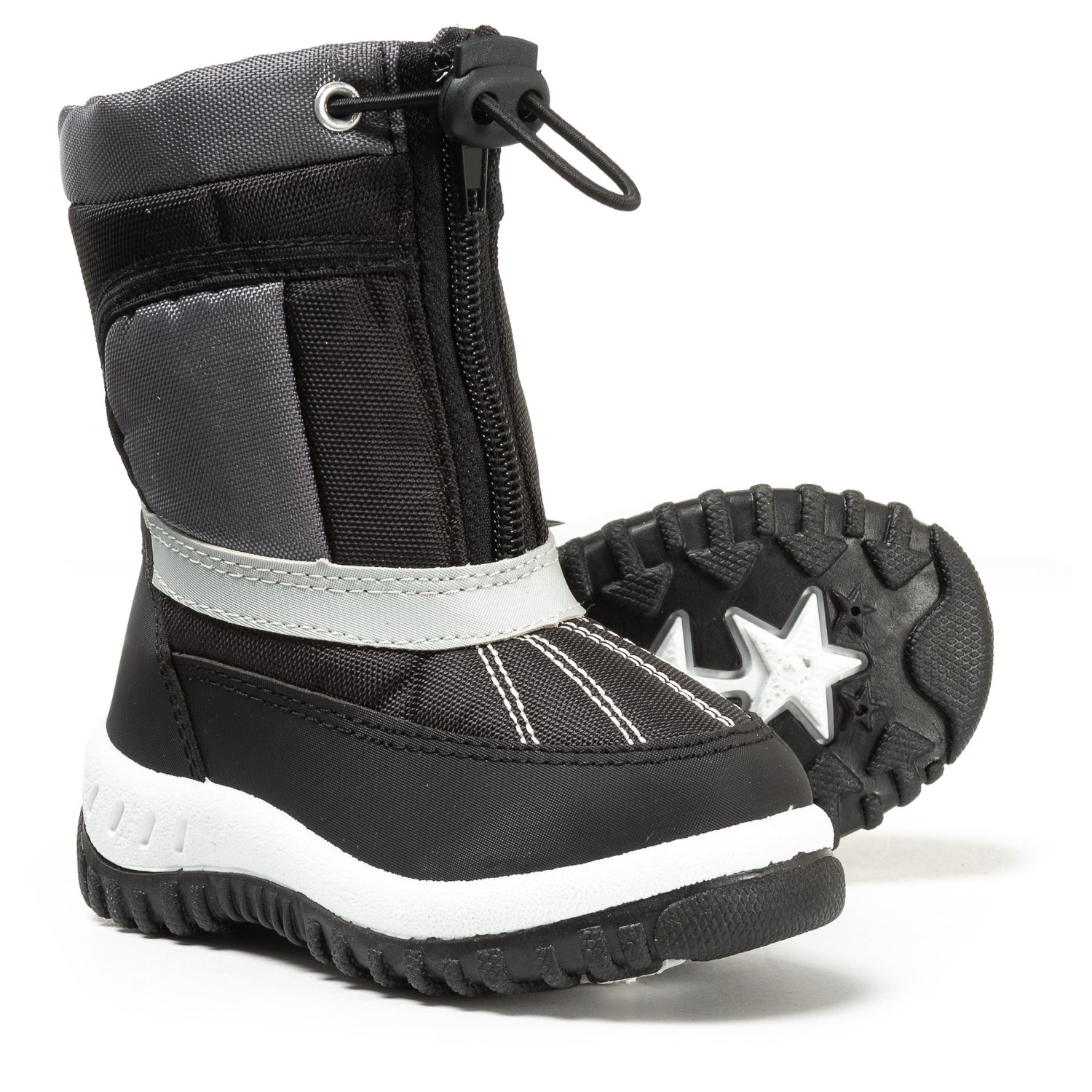 Rugged Bear Zip And Lace Snow Boots For Toddler Boys